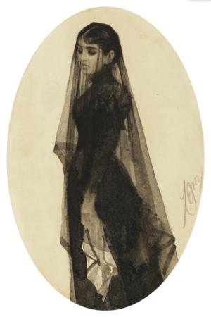 Anders Zorn - the widow, vers 1882-83