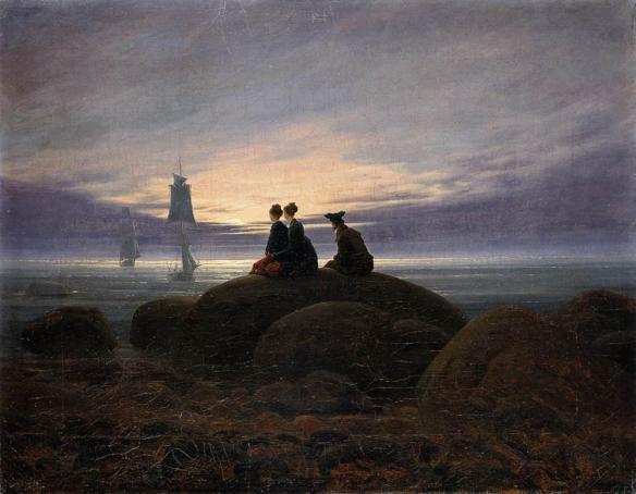 Caspar David Friedrich - Lever de lune sur la mer, vers 1822