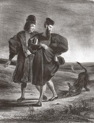 Delacroix - Faust (Gœthe), Faust, Vagner et le barbet