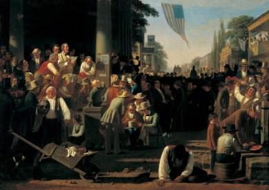 George Caleb Bingham - The Verdict of the People, 1854-55
