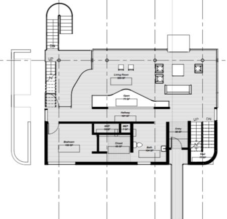 Richard Meier - Douglas House - niveau intermédiaire