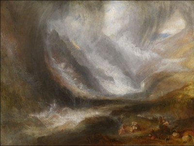 William Turner - Orage, tempête de neige et avalanche sur le Val d'Aoste, 1836-1837