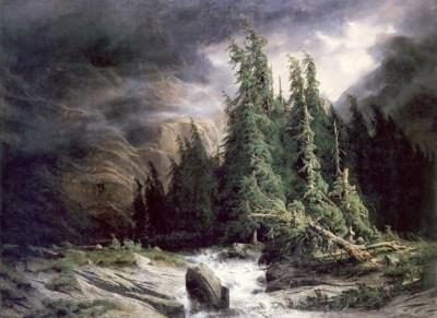 Calamé - Orage à la Handeck, 1839