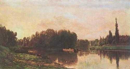 Charles-François Daubigny - la confluence de la Seine et de l'Oise, 1868