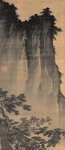 Ma Yuan - technique du pinceau (détail du tableau Face à la Lune)