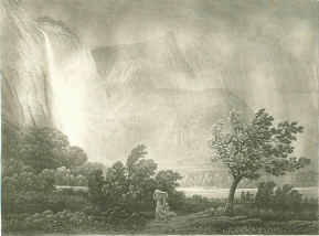 Samuel Birmann (suisse, 1793-1847) - Cascade de l'Arpenaz, 1830