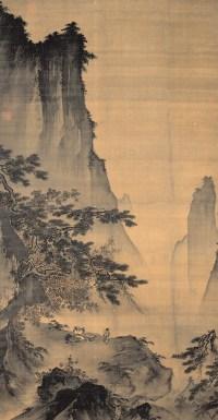 Ma Yuan - Face à la lune : arbre (détail)