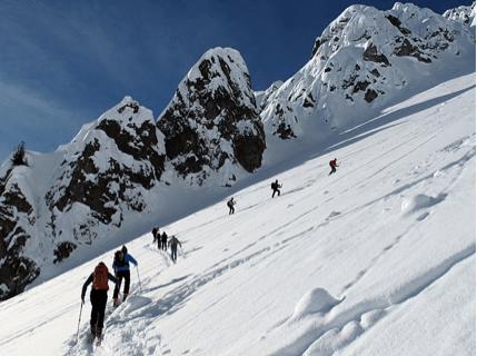 Les Rochers de la Reffa, montagne du Bel Oiseau à Finhaut dans le Valais (Suisse)