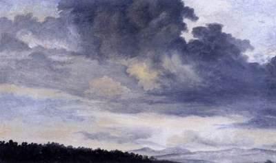 Pierre-Henri de Valenciennes - études de nuages dans la campagne romaine, 1780