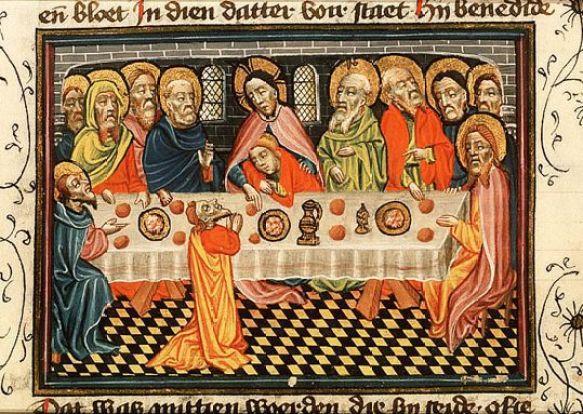La Cène de la Bible d'Urtrecht, vers 1430
