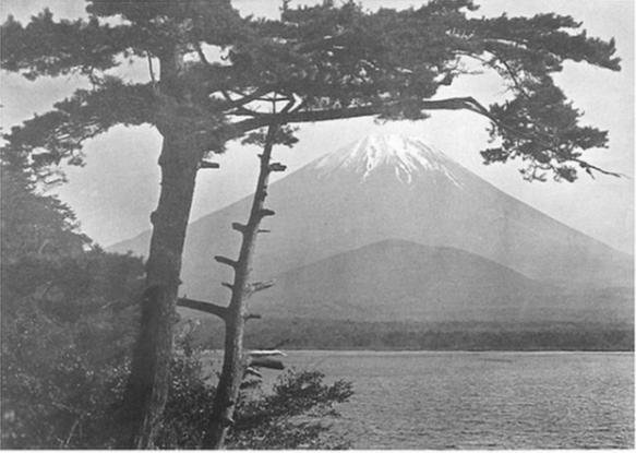 Okinawa Soba (Rob) - Two versions of Fuji san publised by K. Ogawa - Herbert Ponting, 190