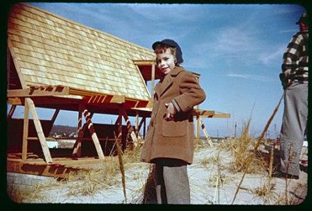Andrew Geller - Reese House à Saganopack en construction, 1957