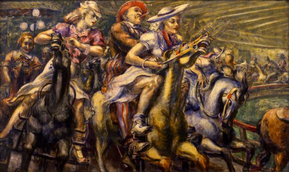 Reginald Marsh - chevaux de bois, 1936