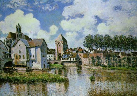 Alfred Sisley - Moret-sur-Loing, 1891