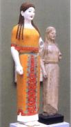 Déesse Artémis, vers 520 av. JC aux couleurs reconstituées