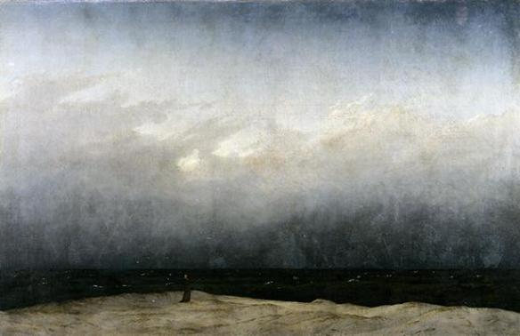 Caspar David Friedrich - Moine au bord de la mer, 1809