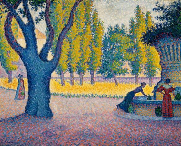 Paul Signac - Saint-Tropez, Fontaine des Lices, 1895.