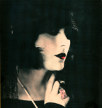 Hand tinted portrait of Pola Negri
