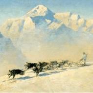 Ziegler Eustace Paul - Tog's team devant le Mt McKinley
