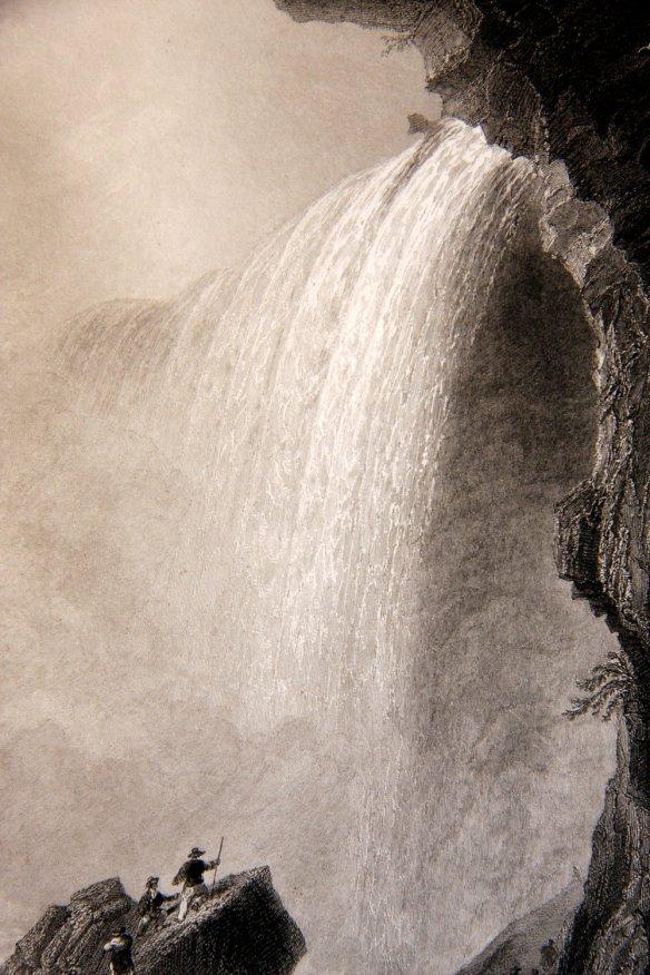 w-h-bartlett-view-below-table-rock-niagara-falls-new-york-american-scenery-1839