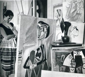jacques-henri-lartigue-florette-at-picassos-studio-1955