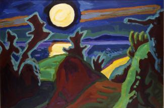 Karl Schmidt-Rottluff -  Mond über der Küste, 1956.jpg