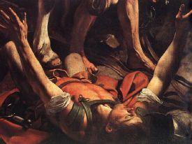 Le Caravage - Conversion de Paul de Tarse sur le chemin de Damlas, vers 1600.jpg