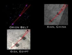 China's Xion Pyramid, like Egypt's Giza Pyramid, replicate Orion in the sky.