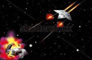 Rockets exchange fire