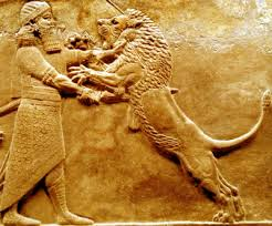 Gilgamesh kills lion