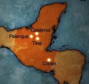 Mayas 4 capitals Palenque, Tikal, Copan, Kalakmul AA s4 d1