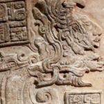 Ningishzidda as Kukuklan, emerging from his spacecraft, depicted as flying serpent.