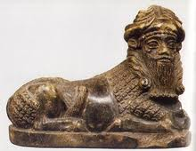 Enlil, depicted with Lion's body