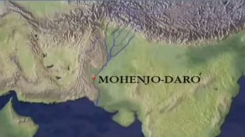 Mohenjo Daro map