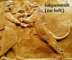 Gilgamesh-kills-lion