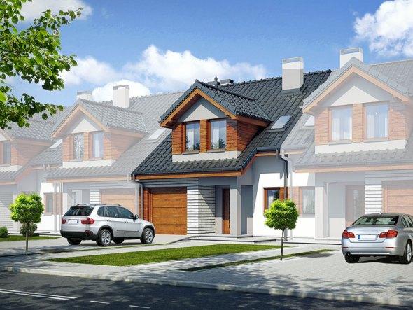 segment b dom jednorodzinny w zabudowie szeregowej