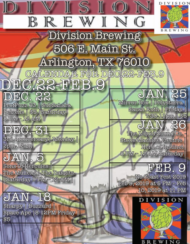 division brewing calendar