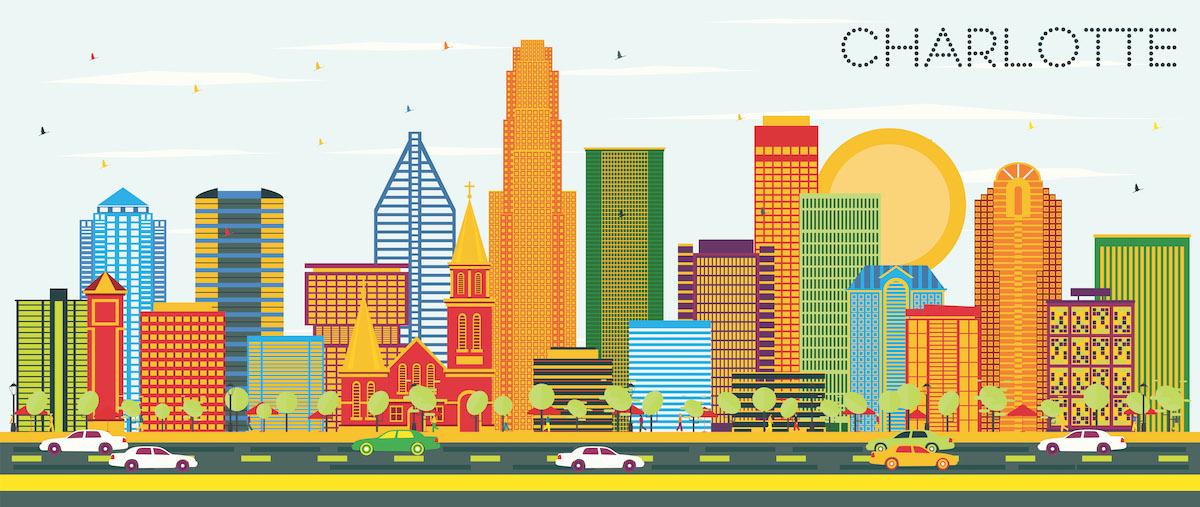 crecimiento de ciudades de Carolina del Norte