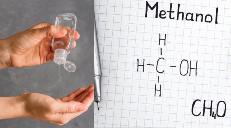 desinfectantes contaminados con metanol