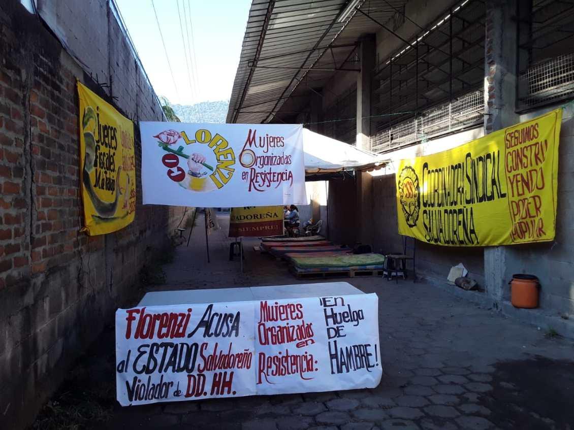 Indiferencia de gobierno Bukele a huelga de hambre de trabajadoras fábrica Florenzi
