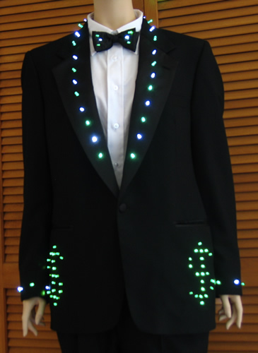 Tuxedo With Dollar Signs Enlighted Illuminated Clothing