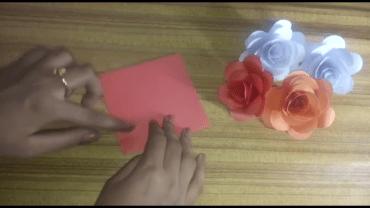 take a square paper