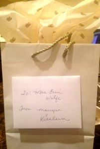 A thoughtful gift from the staff at the Ritz-Carlton in New Orleans.