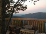 Sunrise coffee at Coopers Hawk Treehouse