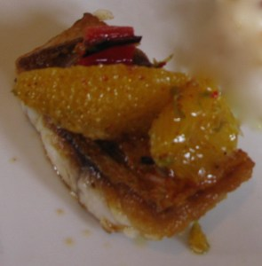Pan Seared Carolina Pink Snapper Citrus and Sweet Relish