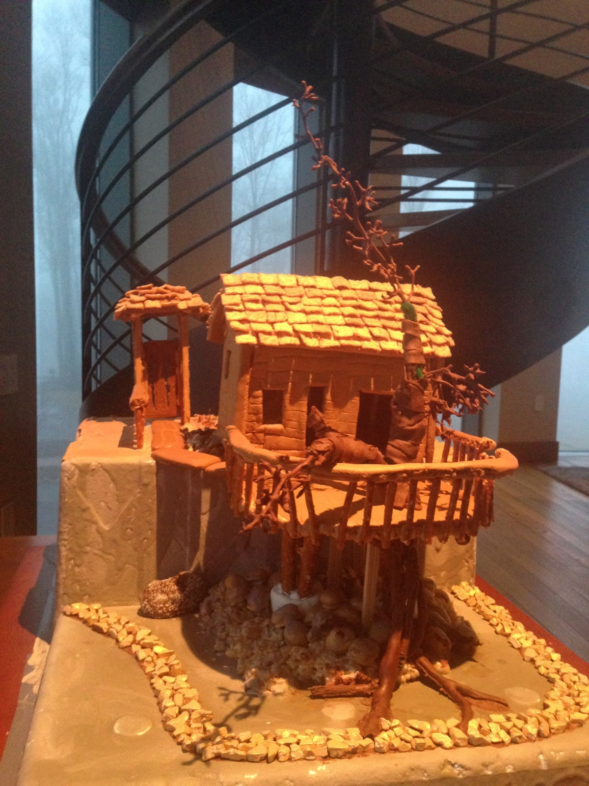 How to make a gingerbread treehouse
