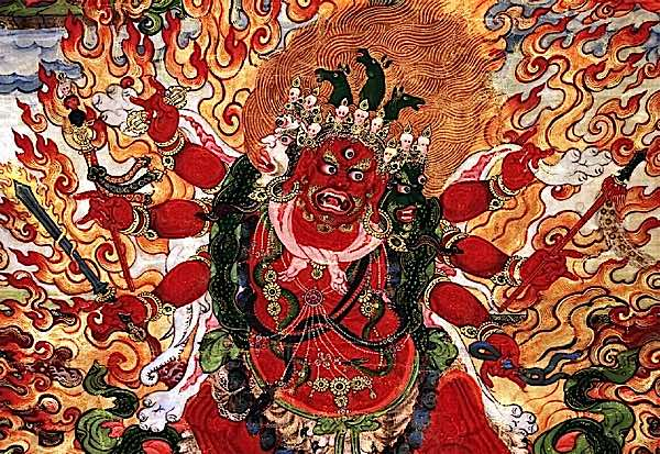 What's so special about Hayagriva? This wrathful Heruka emanation of Amitabha, with horse head erupting from fiery hair, literally neighs with the Hrih scream of Wisdom – Buddha Weekly: Buddhist Practices, Mindfulness, Meditation