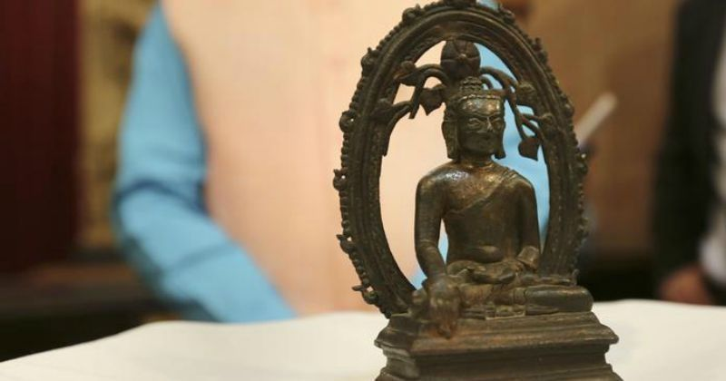 On Independence Day, UK Returns Buddha Statue To India Stolen 57 Years Ago From Nalanda