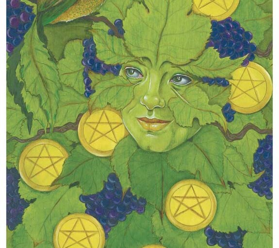 Featured Card of the Day – 9 of Pentacles – 78 Tarot Mythical