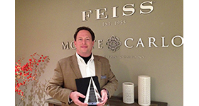 Feiss-Monte Carlo names Keith Eichenblatt Salesman of the Year